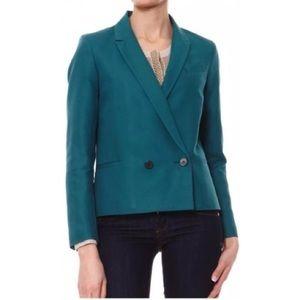 Comptoir Des Cotonniers Green Cotton Blazer NEW
